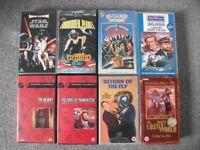 8 SCI-FI/HORROR VHS VIDEOS