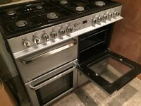 Range oven and gas hobs, Flavel Milano 100