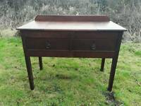 VICTORIAN oak side /console table with 2 drawes