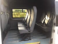 Van , crew van seats , bolt in , with seat belt and buckles, in good condition