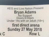 2 x Bryan Adams tickets Leeds First Direct Arena