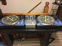 CITRONIC PD2 TURNTABLES X2 1 X NUMARK 950 MIXER
