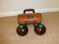 Crown Green Bowls plus carrying bag