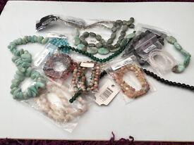 Genuine gemstones mostly from Jewellery Maker tv
