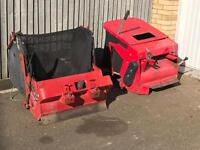 Ride on mower grass collectors westwood countax