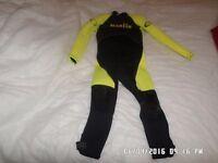 Yellow and black Marlin aqua pro wet suit