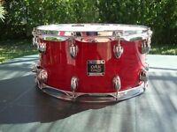Yamaha Oak Custom Snare Drum 14x6.5 Cherry Red
