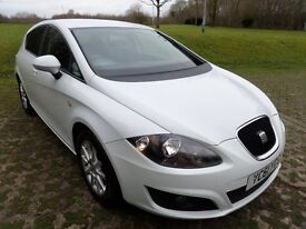 2011 SEAT LEON 1.6TDISE COPA CR*WHITE*FINANCE AVAILABLE*LOW MILES