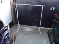 Clothes storage rail