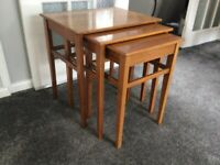 Vintage Retro 1960's Nest of Tables autographed by Herbert Elsibb