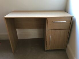 Desk with door and drawer