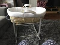 Hush little baby Moses basket and stand