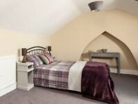 Beautiful bedroom set double bed frame,mattress ,lockers and table