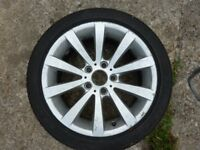 BMW 320D Wheel and Bridgestone Tyre