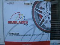 "Alloy Wheel Protectors - Rimblades Pro set of 4 19"" wheel diameter Silver / Grey"
