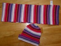 CHEROKEE HAT & SCARF SET AGE 9 - 14