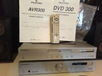 CELESTION AVR_300 amp+DVD/CD playerr / TUNNER +Remote+Manuals ,Excellent Condition(Tip Top)