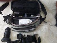 Canon T70 Camera and accessories