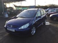53 REG PEUGEIT 307 estate CAR IN NICE CLEAN CONDITION IN AND OUT LOADS OF GADGETS MOT NOVEMBER 2018