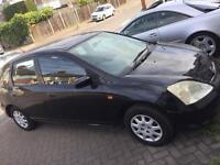 2003 Honda Civic 5 Speed, LPG, Mot n taxed good runner £330