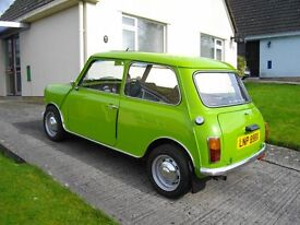 AUSTIN MINI CITY 1982 998cc GREEN 12 MONTHS MOT VERY GOOD CONDITION FOR YEAR 4 TYRES