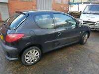 Peugeot 206 2007 black 3 door breaking for parts