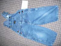 Bundle of 2 dungaries/overalls/trousers/jeans for boy 18-24mths/ 18-24 mths/ 1.5-2 years/ 1.5-2years