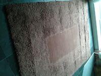 Chocolate brown rug