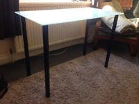 Ikea Glasshlm white glass table