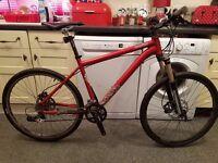 18/5 inch mens voodoo mountain bike with road tyer good working order bargain