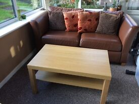 Coffee & Side Table Brand New Light Oak Colour