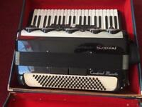 Piano accordion musette with mutes
