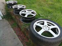 Alloy wheels 17 inch bk racing
