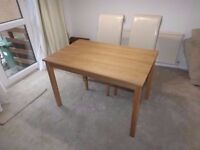 Oak Dining Table - (CHAIRS NOT INCLUDED) - Delivery Available