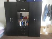 New 3 piece Wardrobe With dressing mirror attached