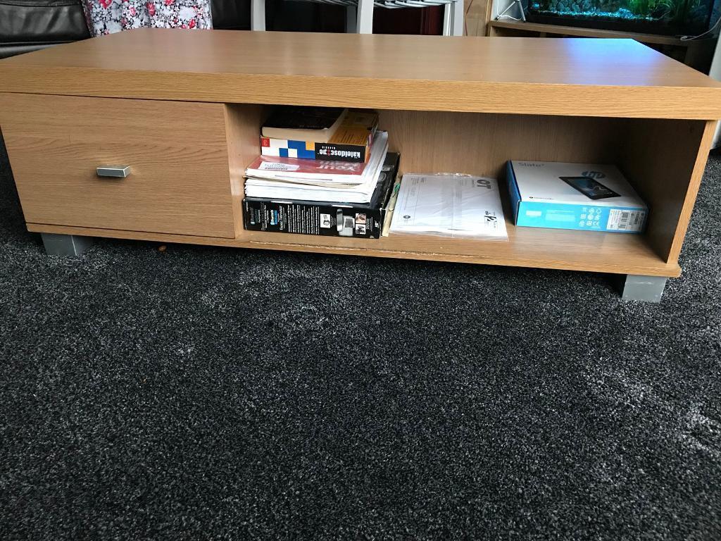 Venice 1 drawer coffee table / tv unit OAK ****RRP £87