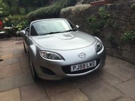 Mazda MX5 1798cc, silver, electronic folding solid roof, excellent condition