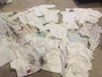Neutral 0-3 month baby clothes bundle