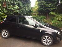 Vauxhall Corsa 1.0 i ecoFLEX 12v Excite 3dr FSH Black MOT: Feb2018 Good Condition, Very Economical