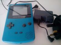 Nintendo Game Boy- Gameboy Color- Colour Turquoise/Teal/Blue Green Console