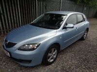 MAZDA 3 TS 1.6 2006 5 DOOR PETROL BLUE 94,000 MILES SERVICE HISTORY MOT 12 MONTHS GOOD CONDITION