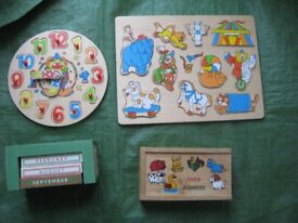 Four Wooden Puzzle Games For Your Young Child - 4 for £10.00