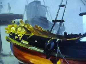 Listed Artist, Original Oil, Fishing Boat by Egbert Oudendag, Stratford Kitchener Area image 10