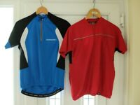Two cycling jerseys in excellent condition.