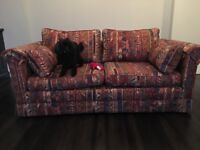 """Sofabed Upholstered in Vintage Liberty Fabric """"Zeebac"""""""