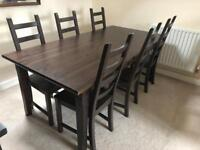 6 seater dining table and chairs.