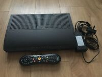 Virgin media Tivo box with remote controll and lead.