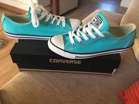 Peacock green converse size 5 brand new