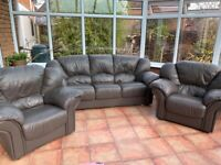 Leather Sofa as part of 3 piece suite