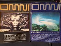 31 ISSUES OF OMNI MAGAZINE FROM 1978 to 1989 IMMACULATE CONDITION